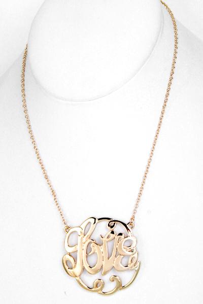 Hologram love pendant necklace necklaces hologram love pendant necklace aloadofball Choice Image