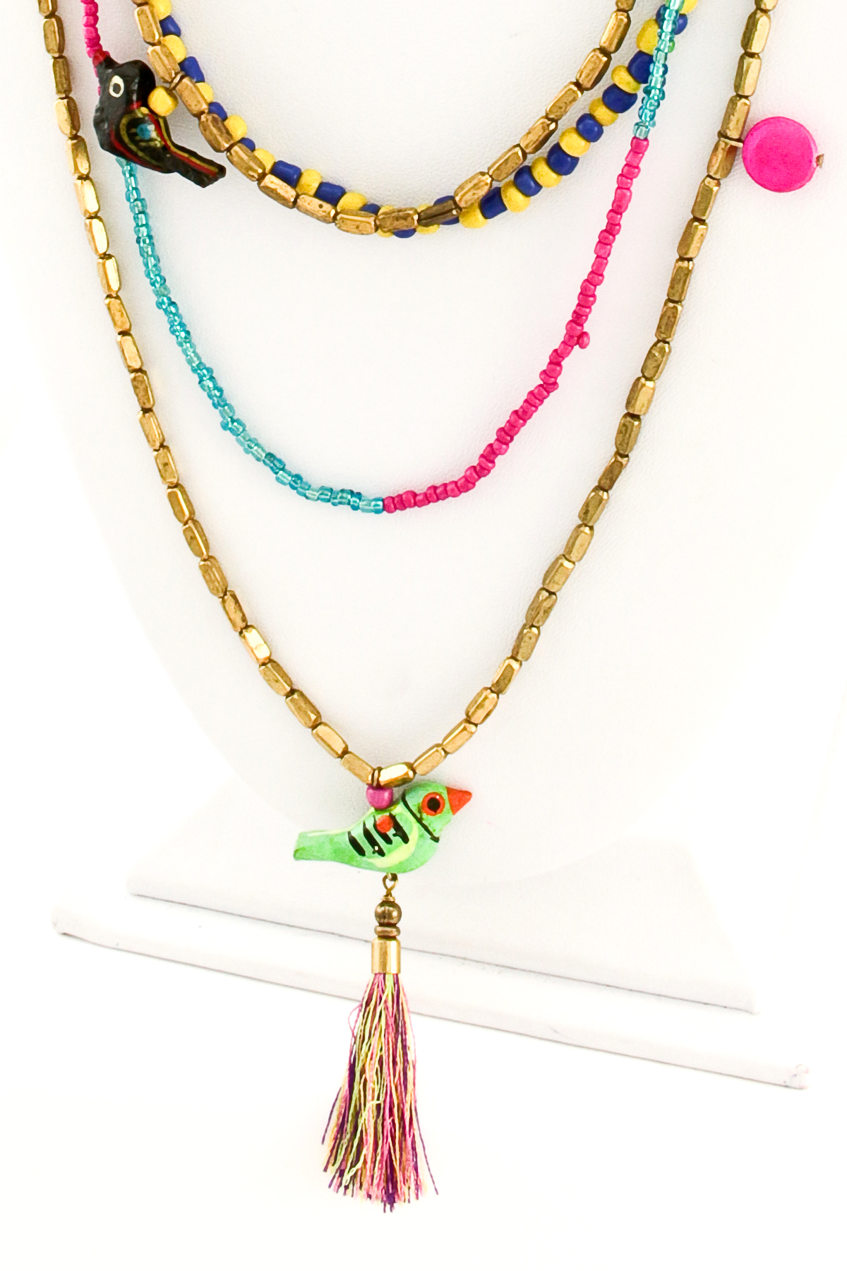seed bead layered necklace set necklaces