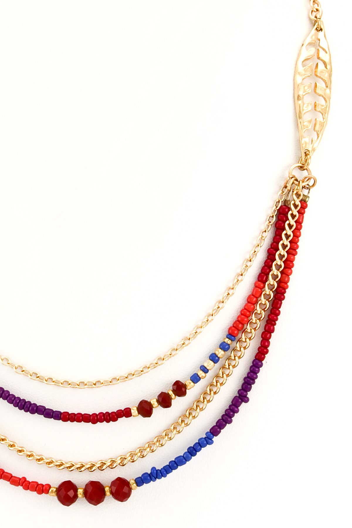 layered seed bead necklace set necklaces