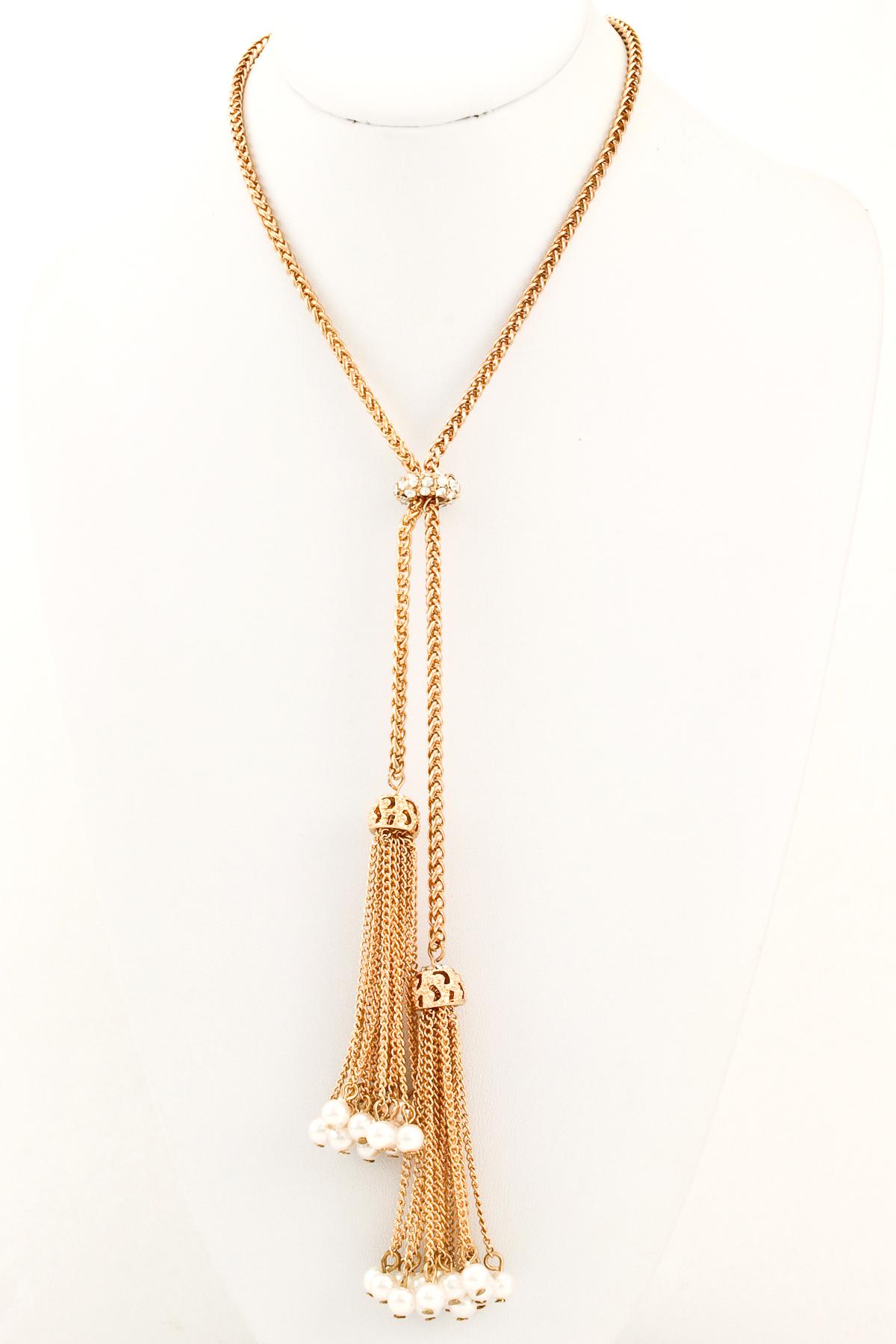 Well known Long Beaded Pearl Tassel Necklace - Necklaces NO24