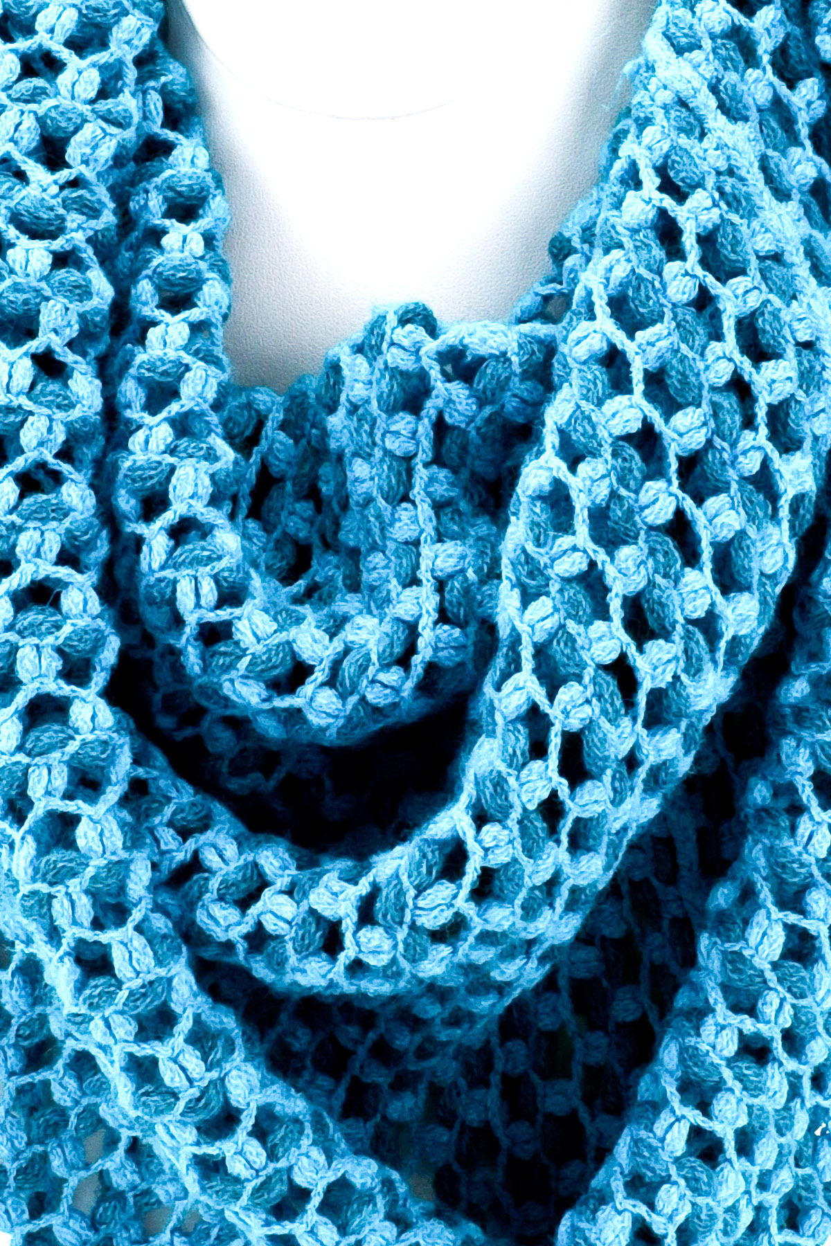 knitted fringe infinity scarf