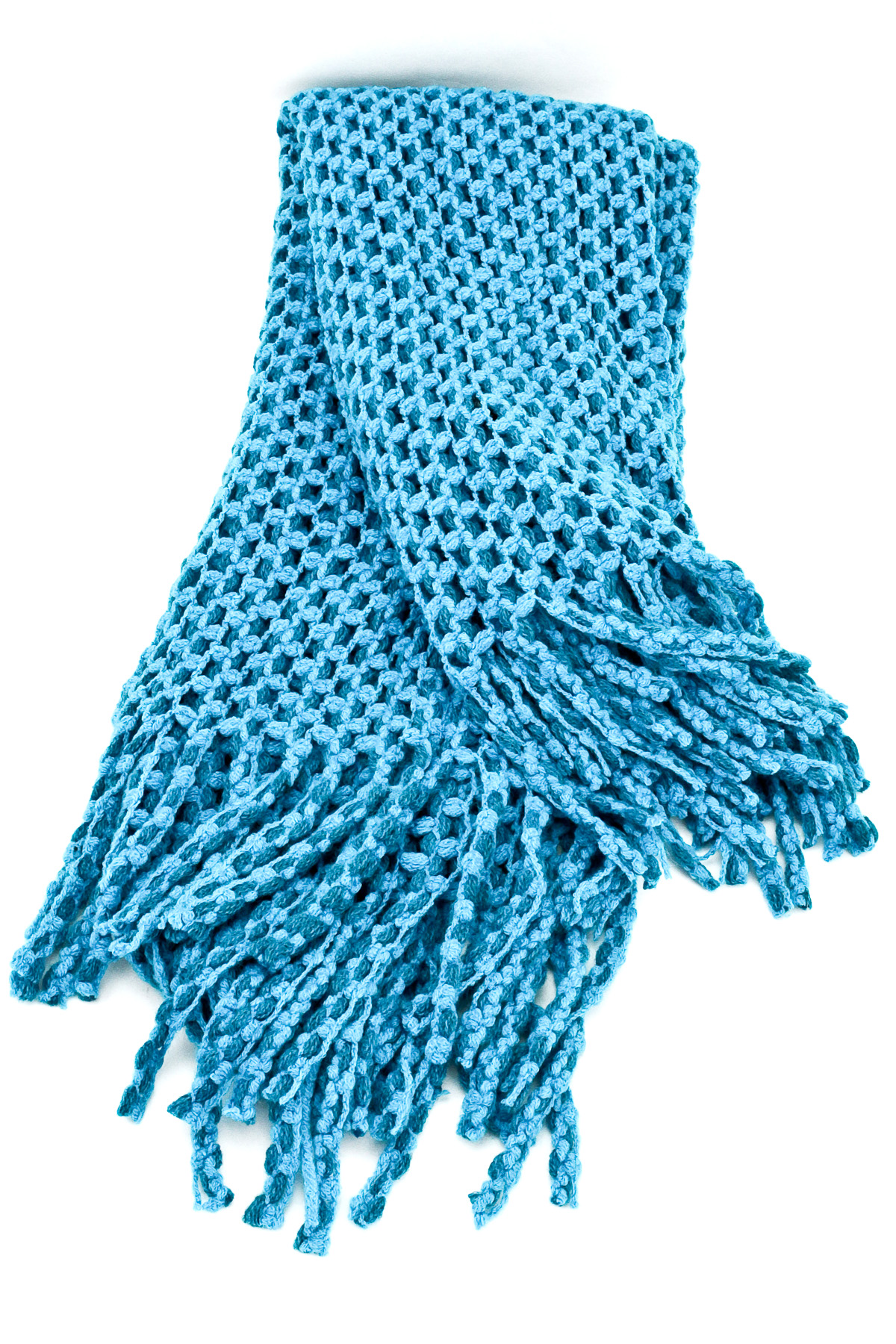 Knitting Pattern Scarf With Fringe : Knitted Fringe Infinity Scarf - Scarves