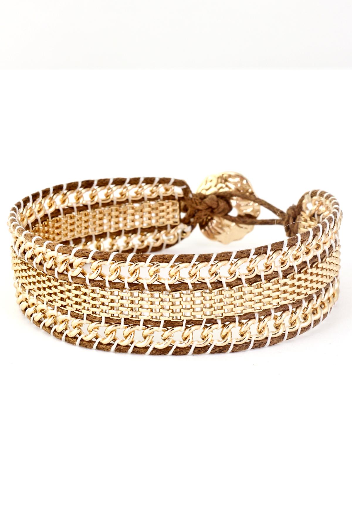 Threaded chain link bracelet bracelets