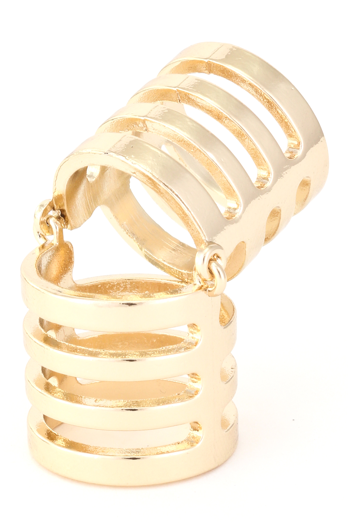 gallery in size rings lyst charlotte caged pack stackable russe jewelry gold plus
