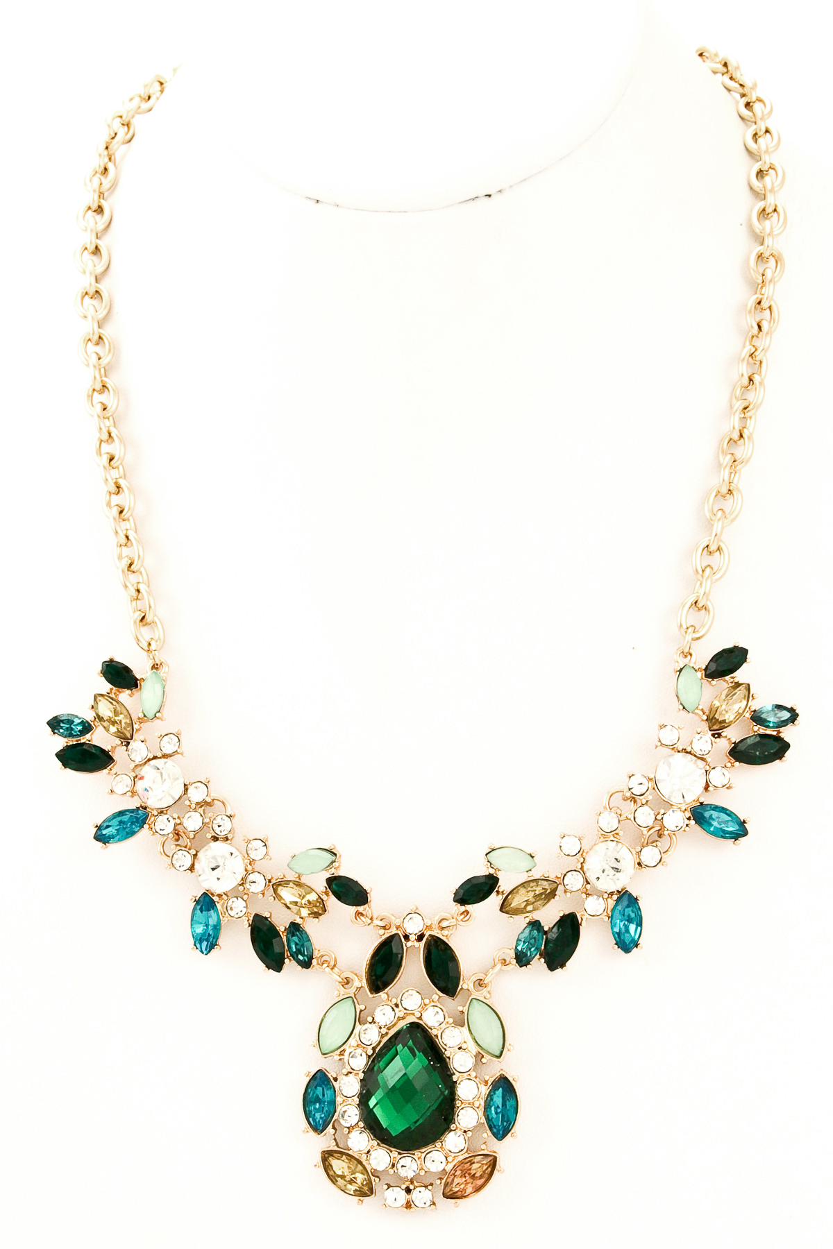 Teardrop Jewel Necklace Necklaces
