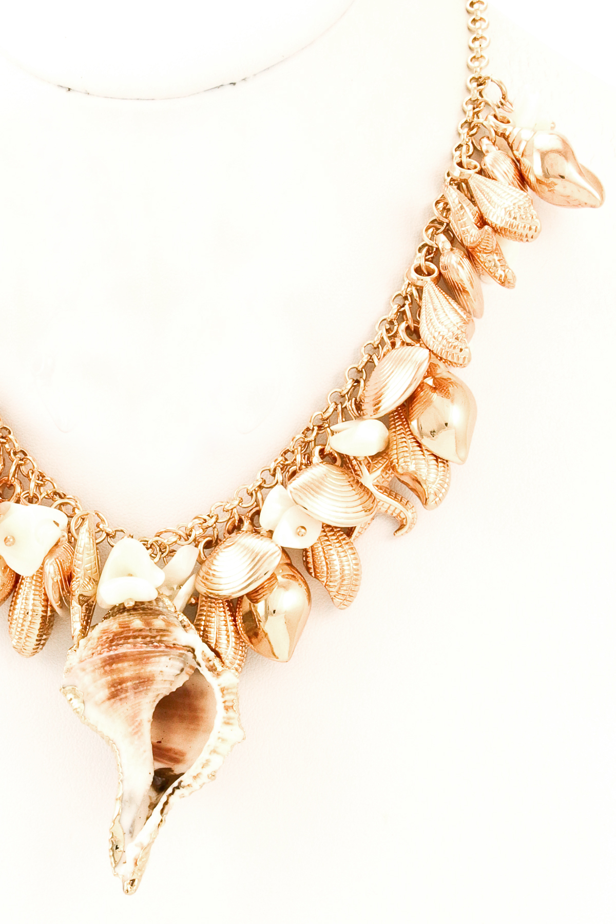 sea shell pendant necklace set