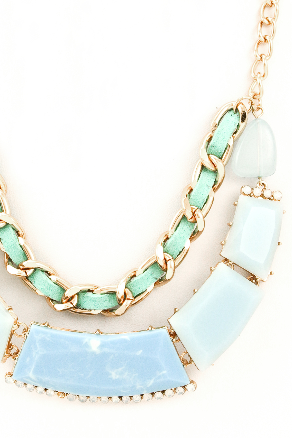 stone and chain necklace set