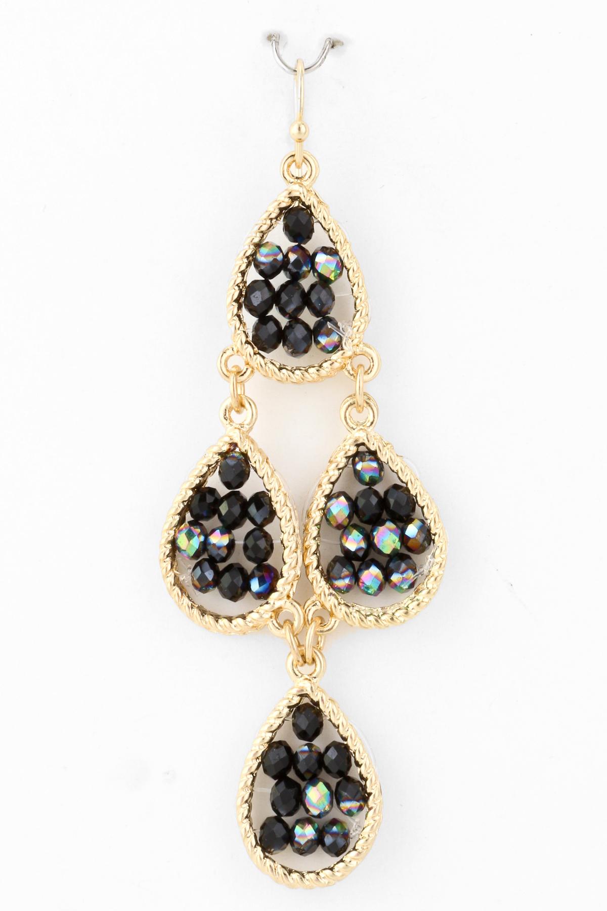 seed bead chandelier earring earrings