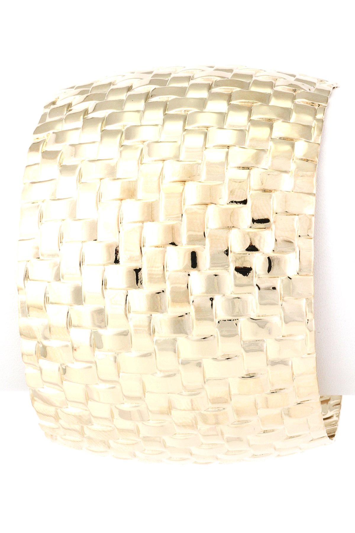 How To Basket Weave Bracelet : Basket weave textured cuff bracelet bracelets
