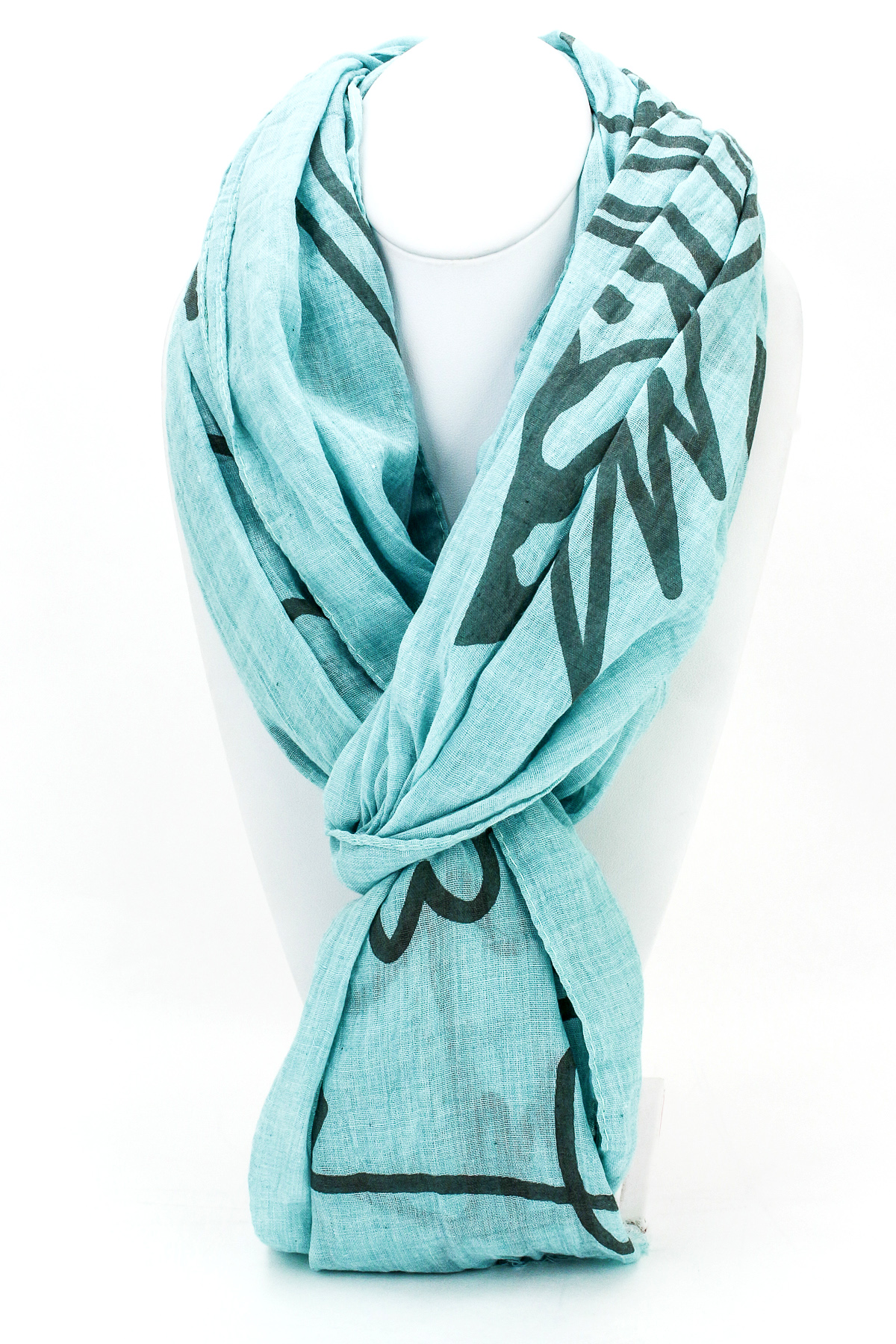 Woven Owl Print Scarf - Scarves