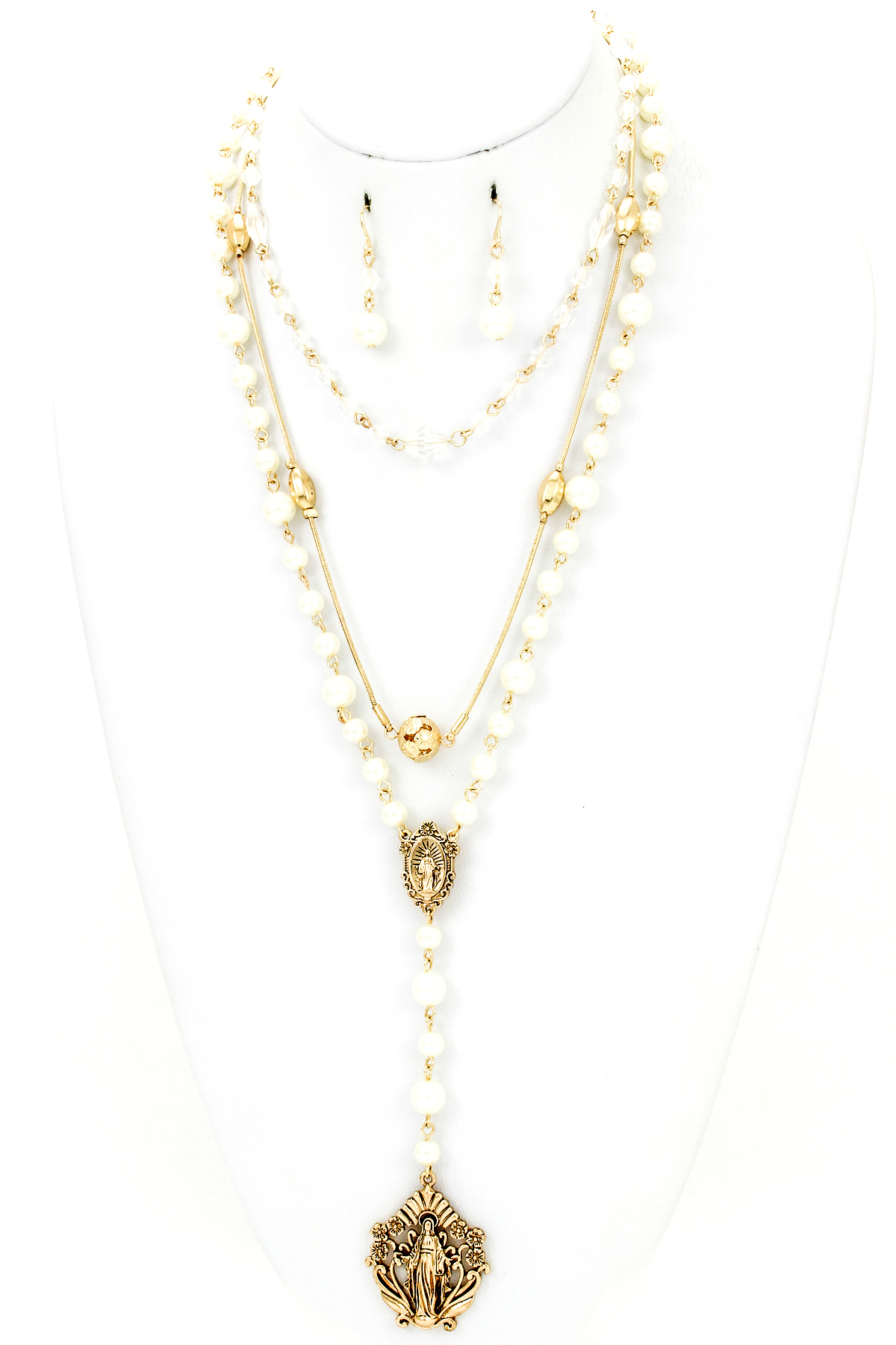 religious rosary style necklace set necklaces