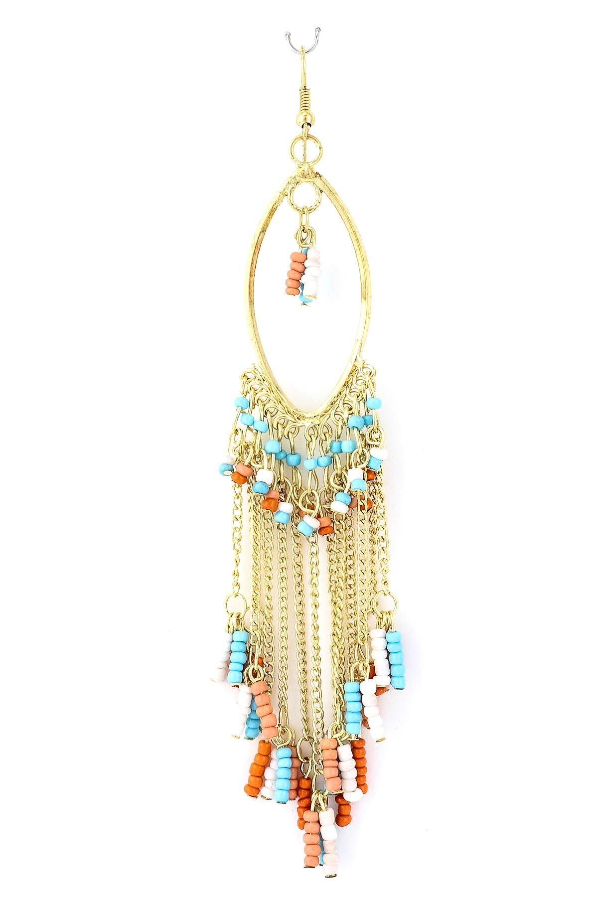 seed bead fringe earring earrings