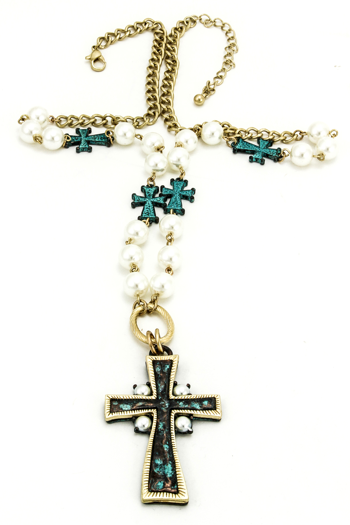 beaded cross necklace set necklaces