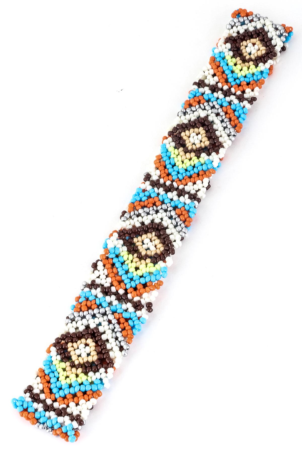 pattern seed bead headband hair accessories