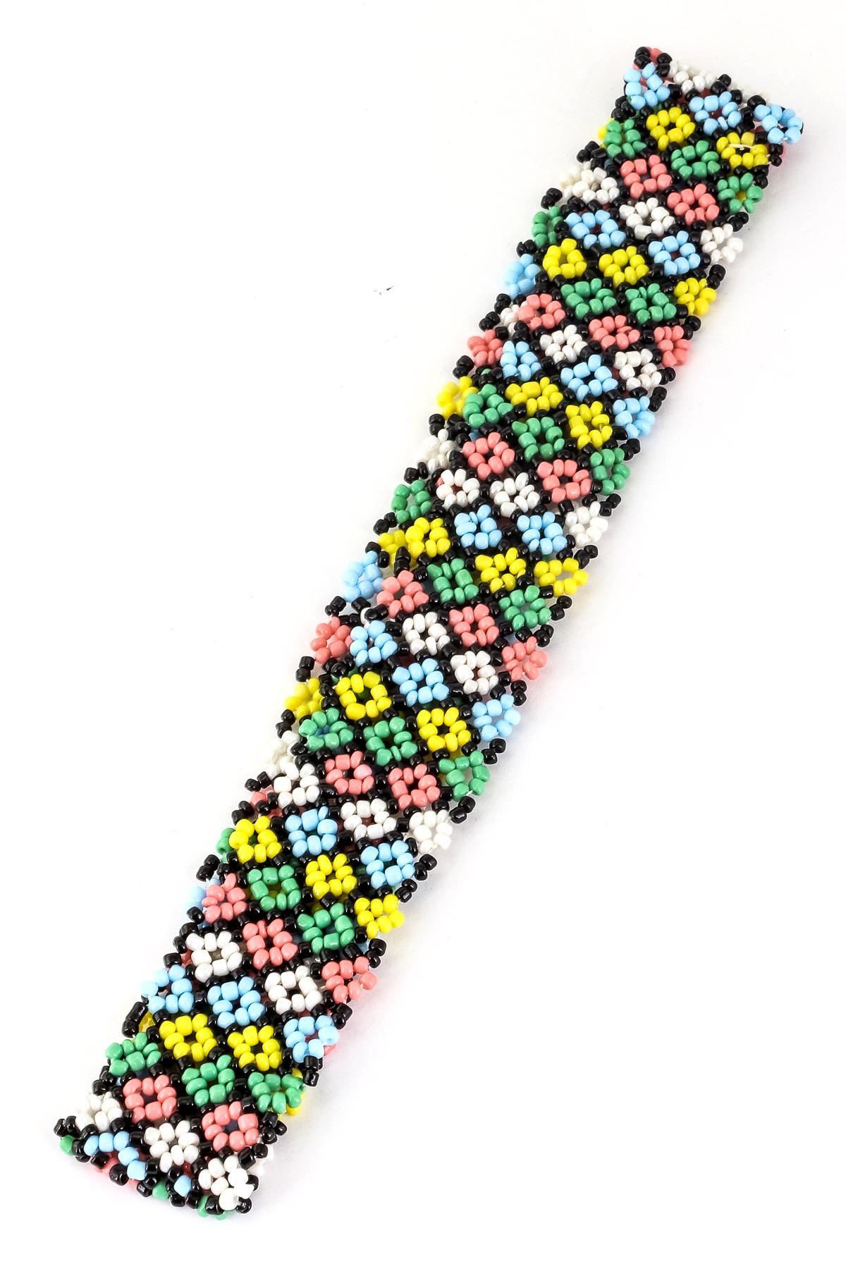 flower pattern seed bead headband hair accessories