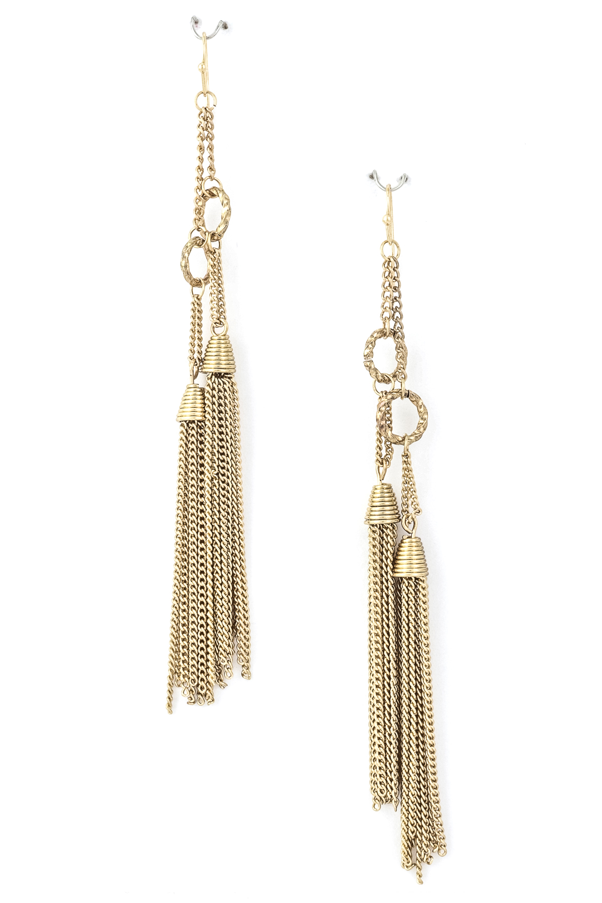chain and tassel dangle earring earrings
