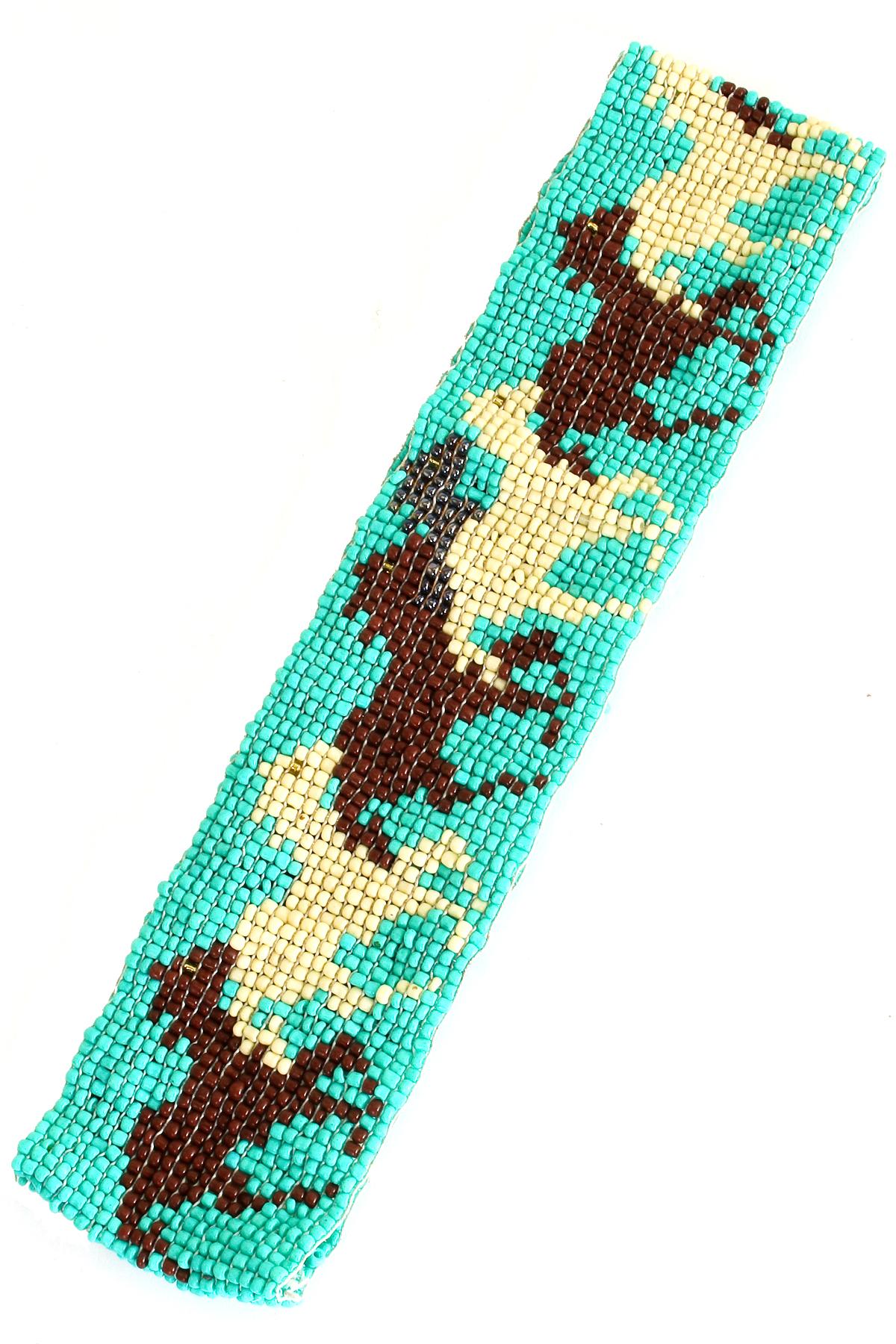 seed bead pattern headband hair accessories