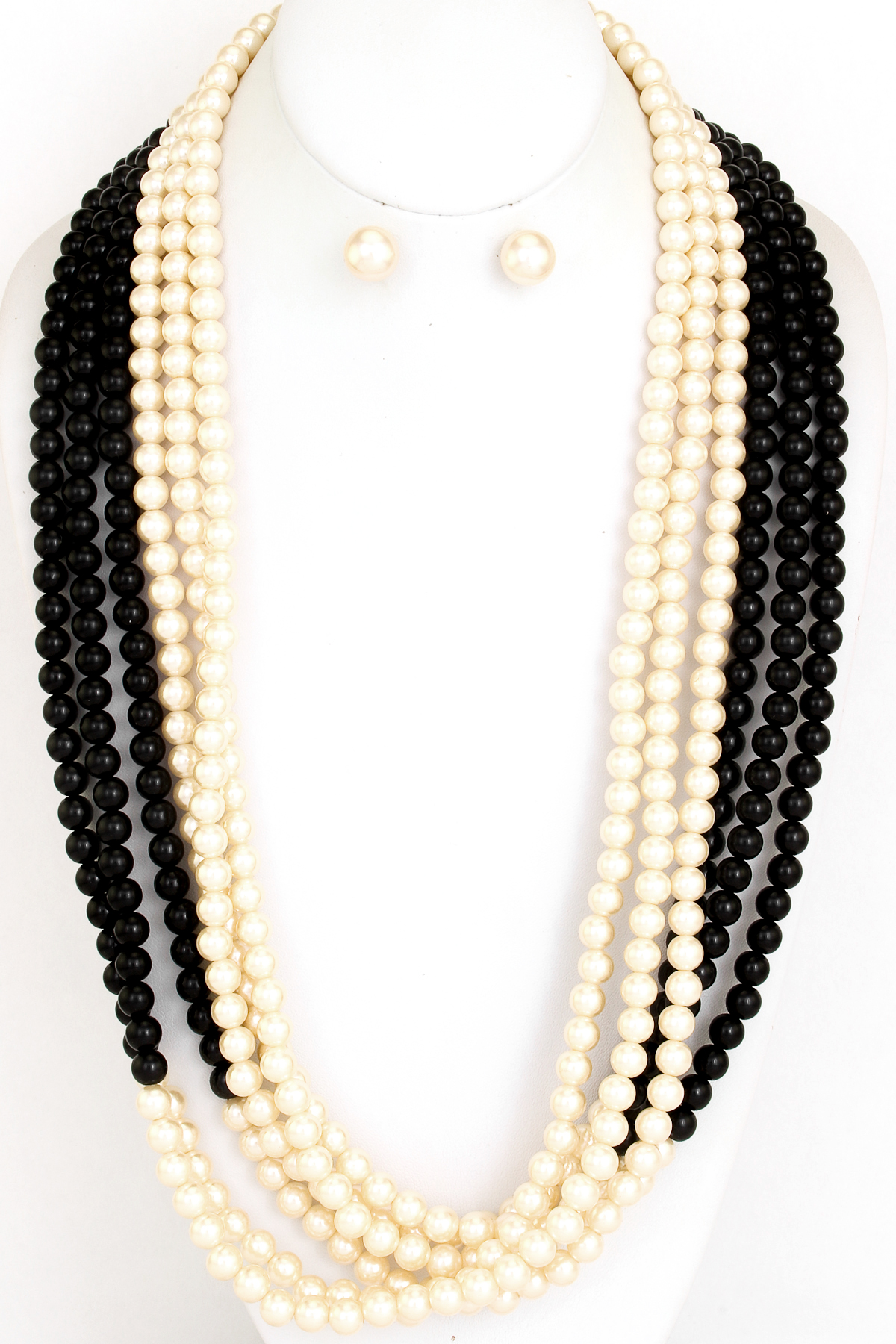 multi layered long pearl necklace set necklaces