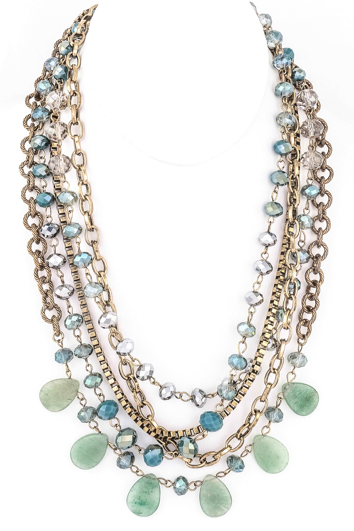 multi layered glass bead necklace necklaces