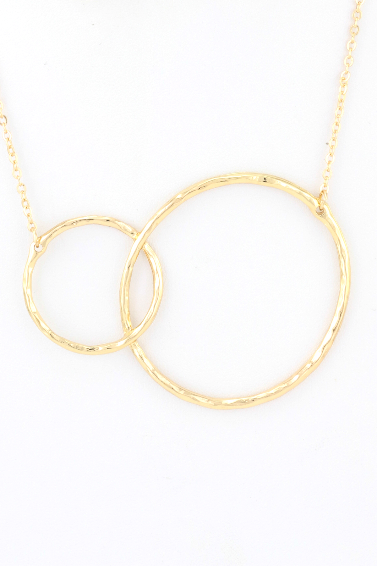 open hammered circle necklace set