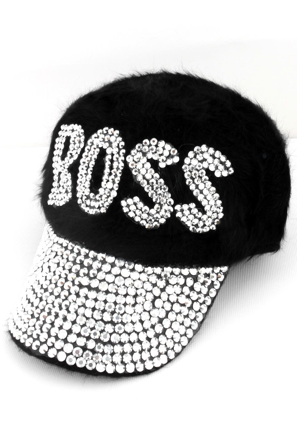 Rhinestone BOSS Fur Hat - Hats f78f900629b