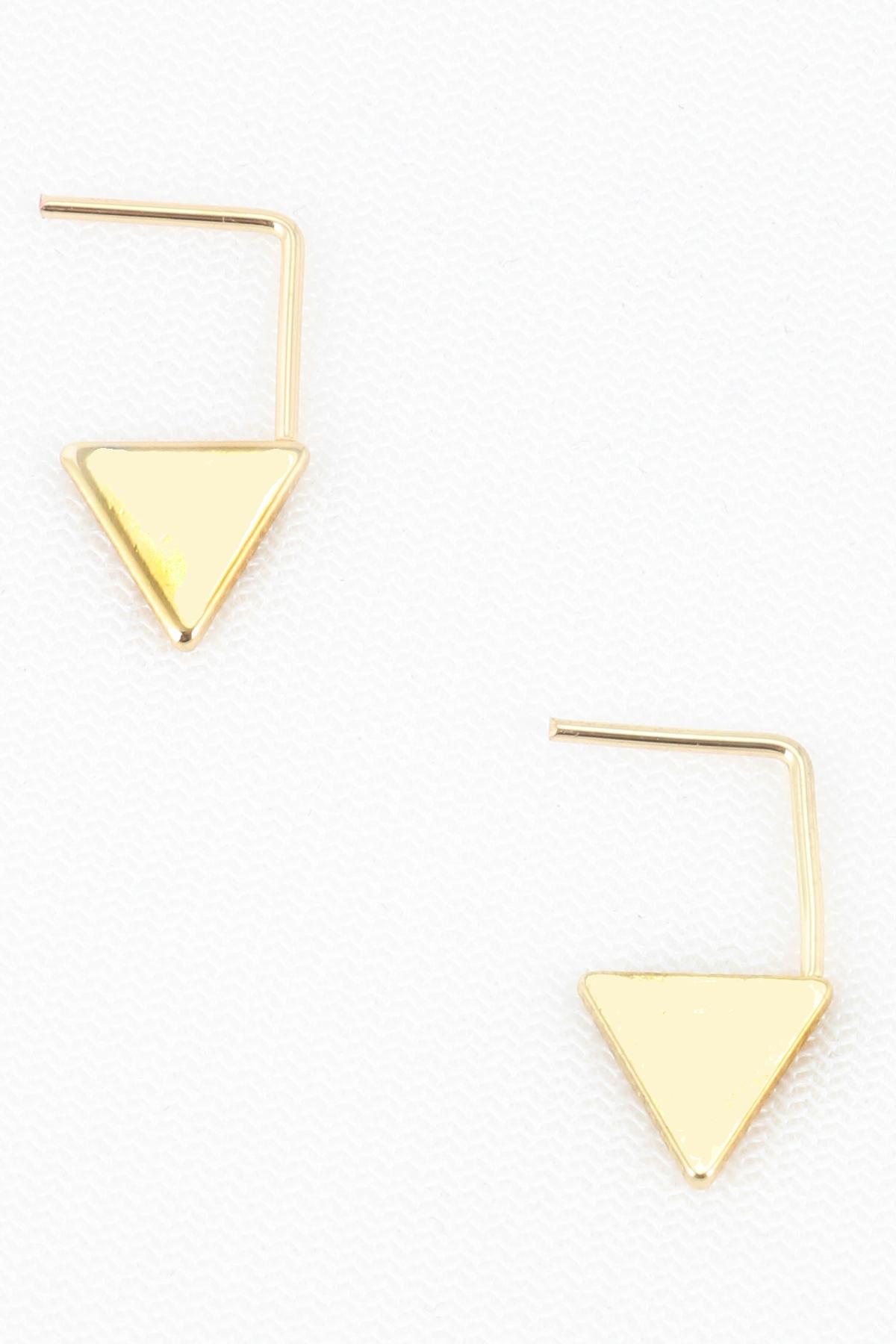 metal triangle dangle earrings. Black Bedroom Furniture Sets. Home Design Ideas