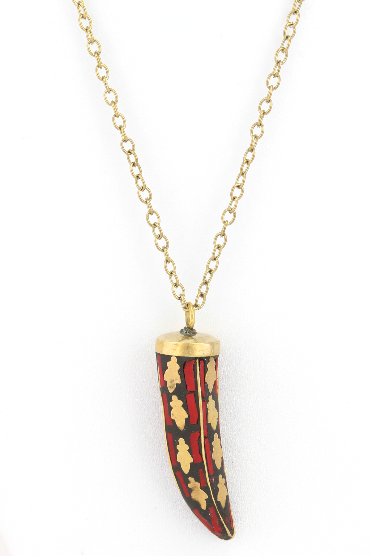 mosaic tusk pendant necklace necklaces