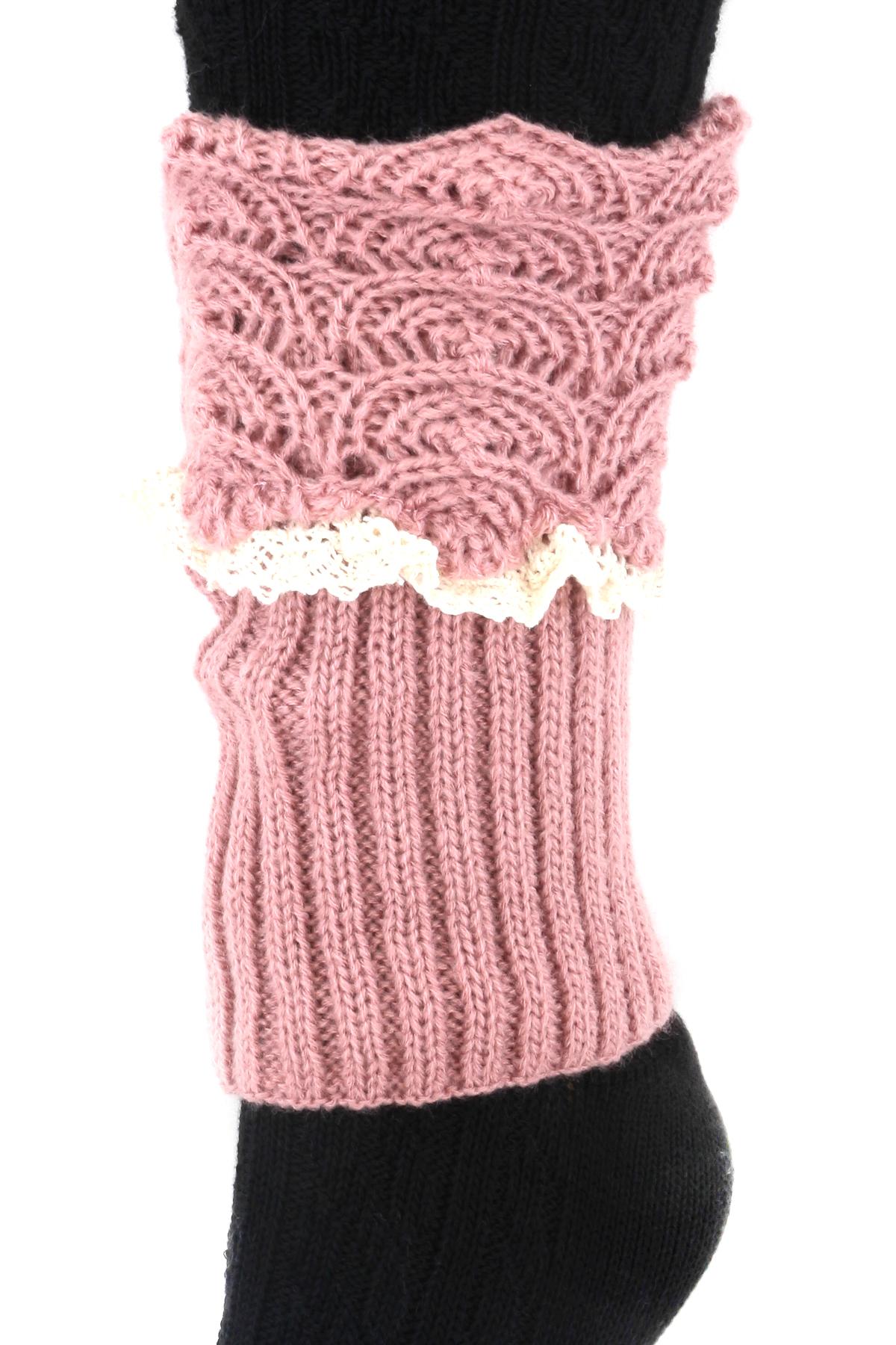 Knit Lace Leg Warmers - Gloves U0026 Leg Warmers
