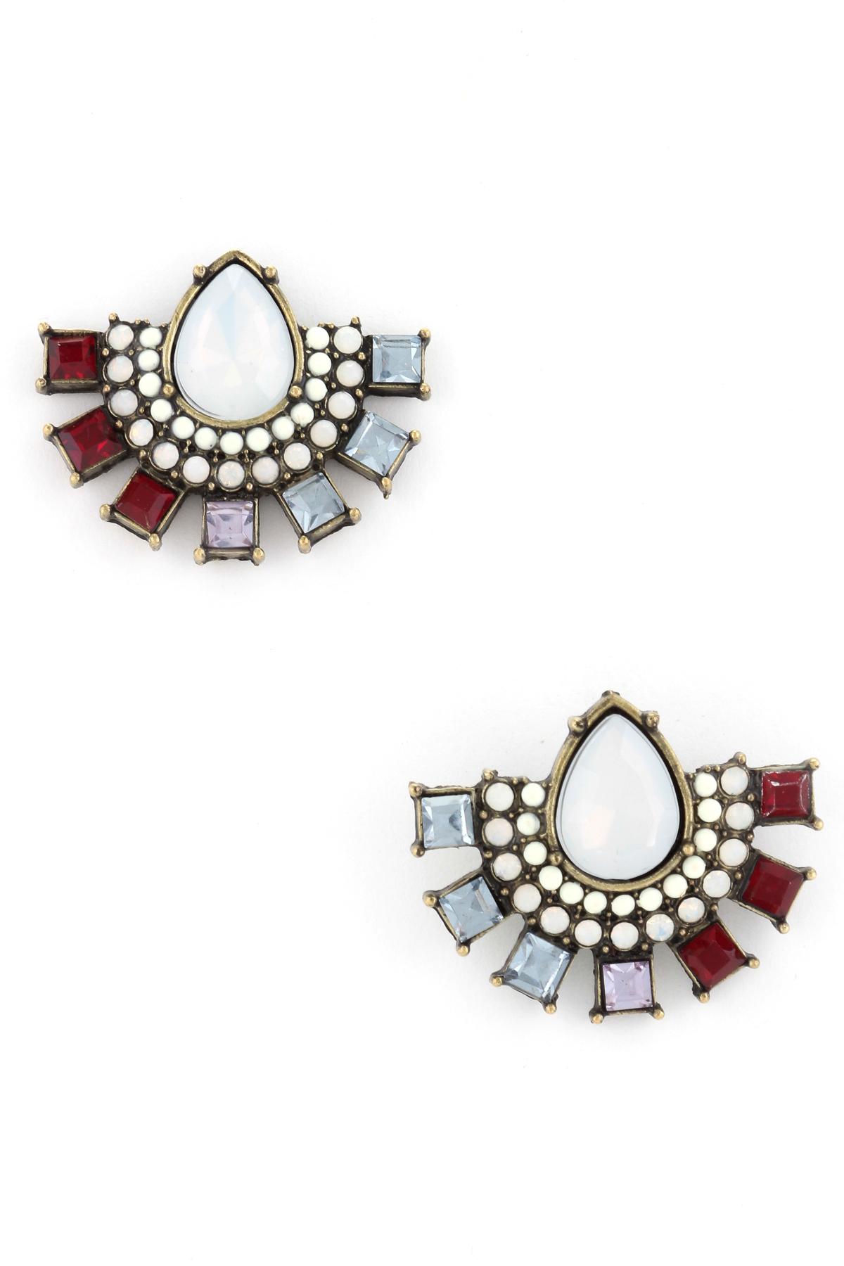 half circle teardrop earrings