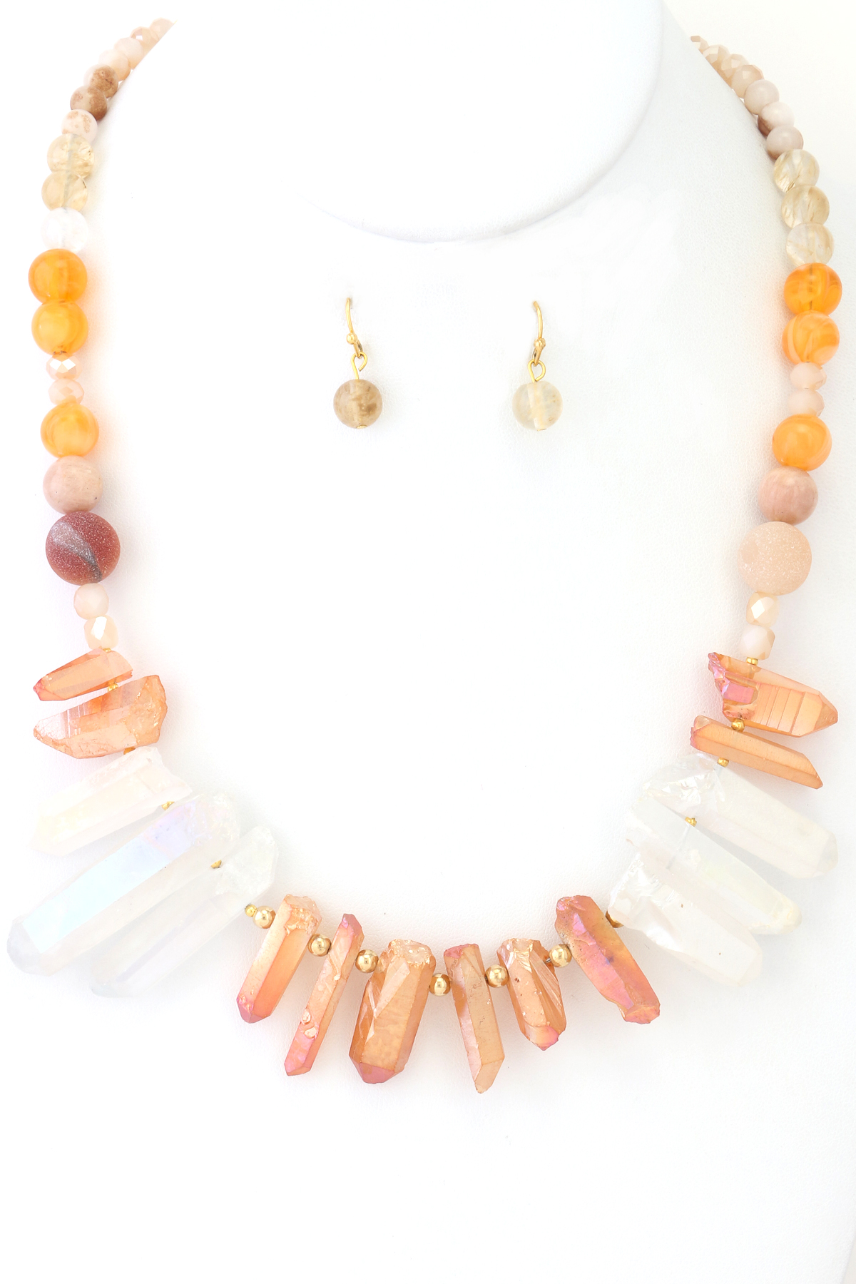 Marble Stone Jewelry : Natural stone necklace set necklaces