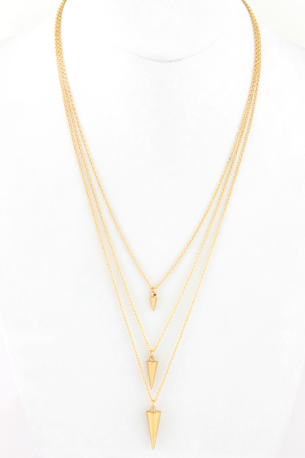 cone pendant layer chain link necklace necklaces