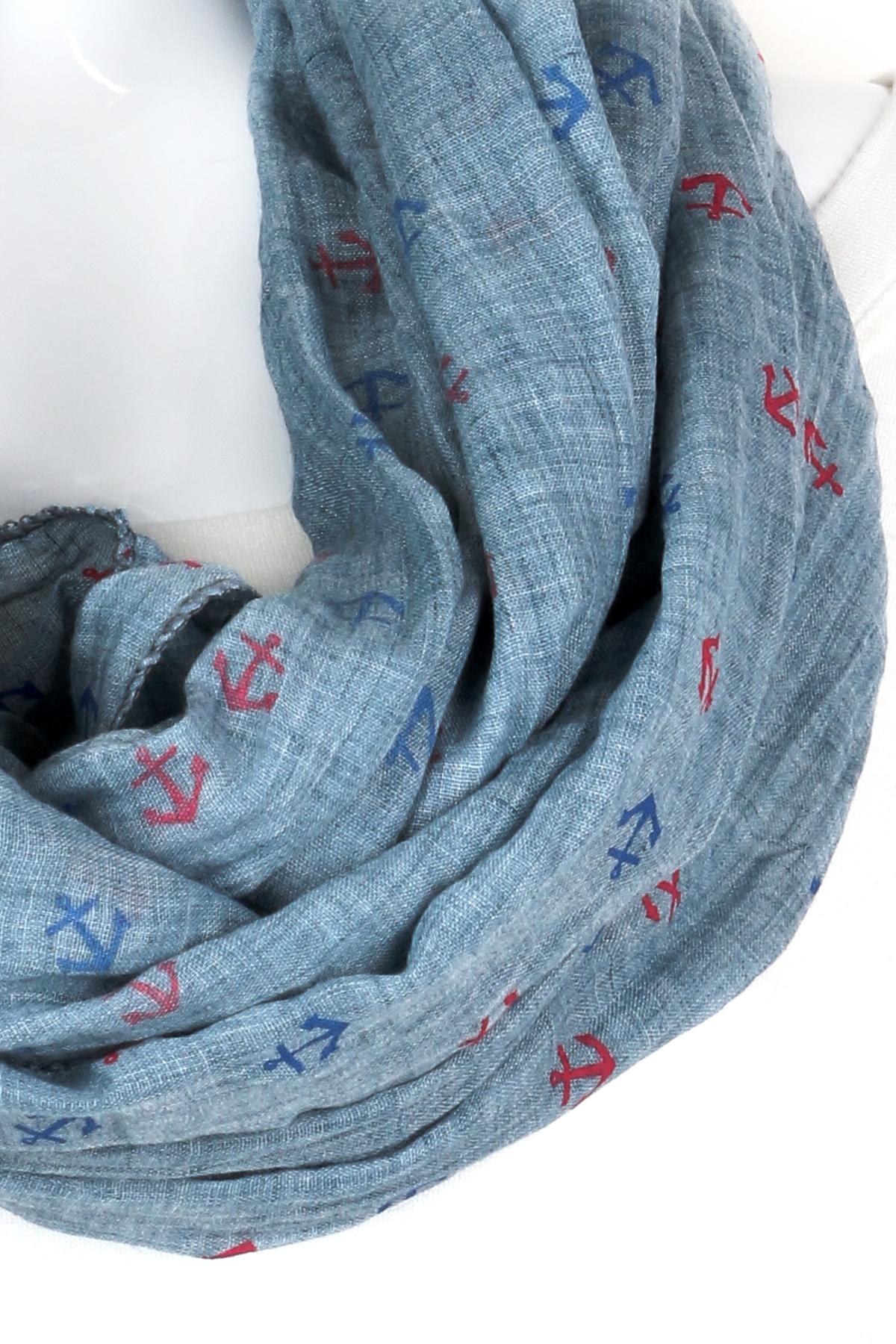 woven anchor infinity scarf