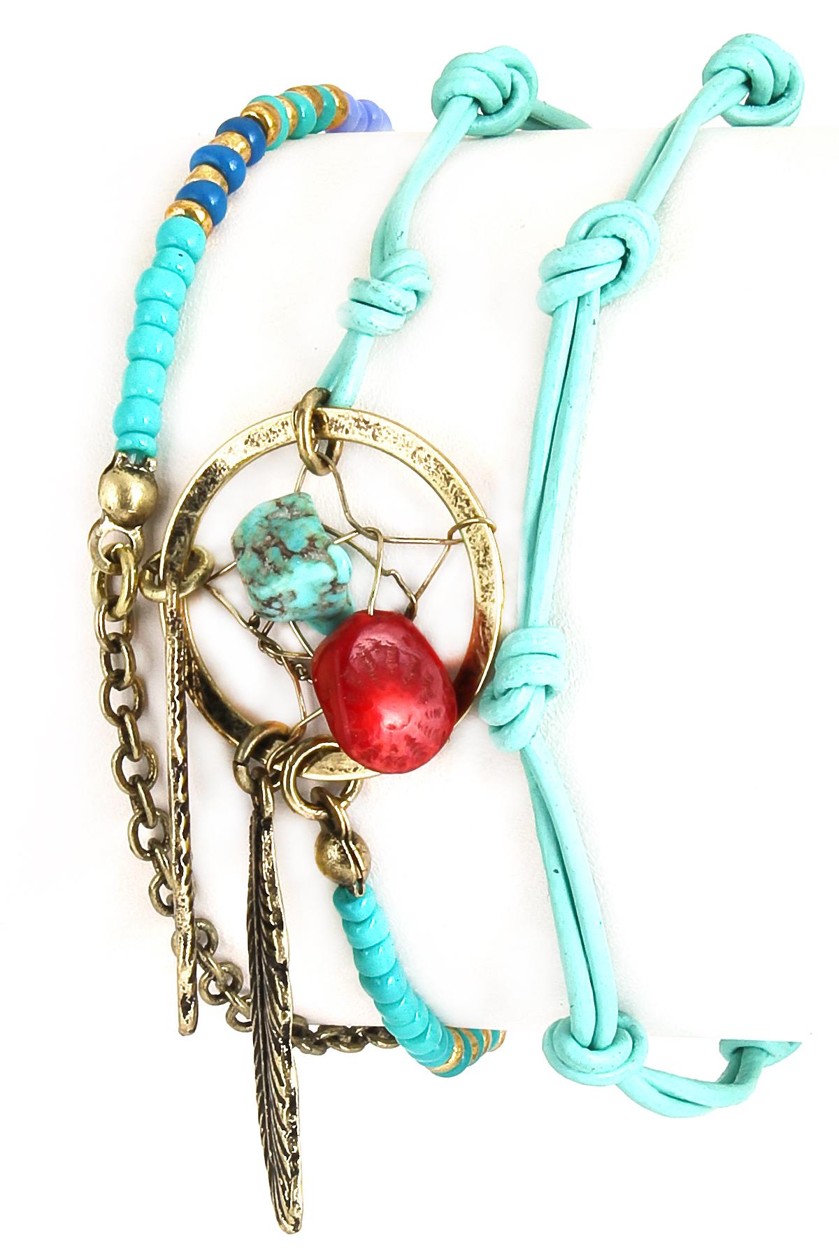 Dream Catcher Seed Bead Wrap Bracelet - Bracelets