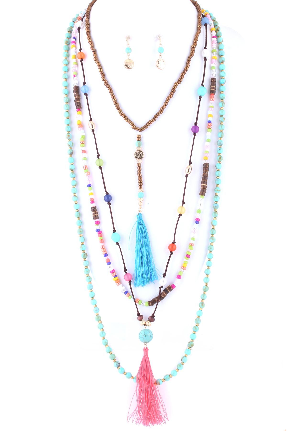 Lace Tassel choker Necklace | Layered choker necklace