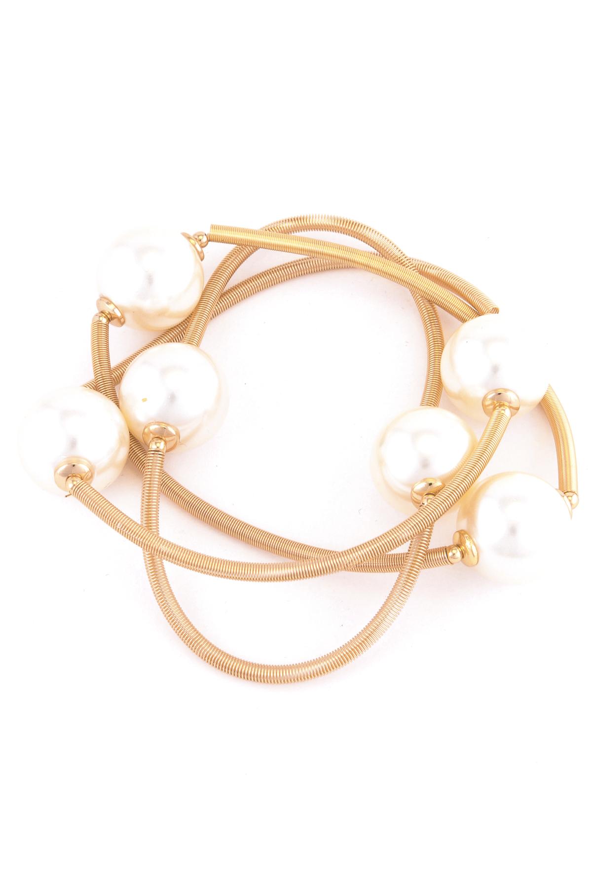 pearl spring stretch bracelet