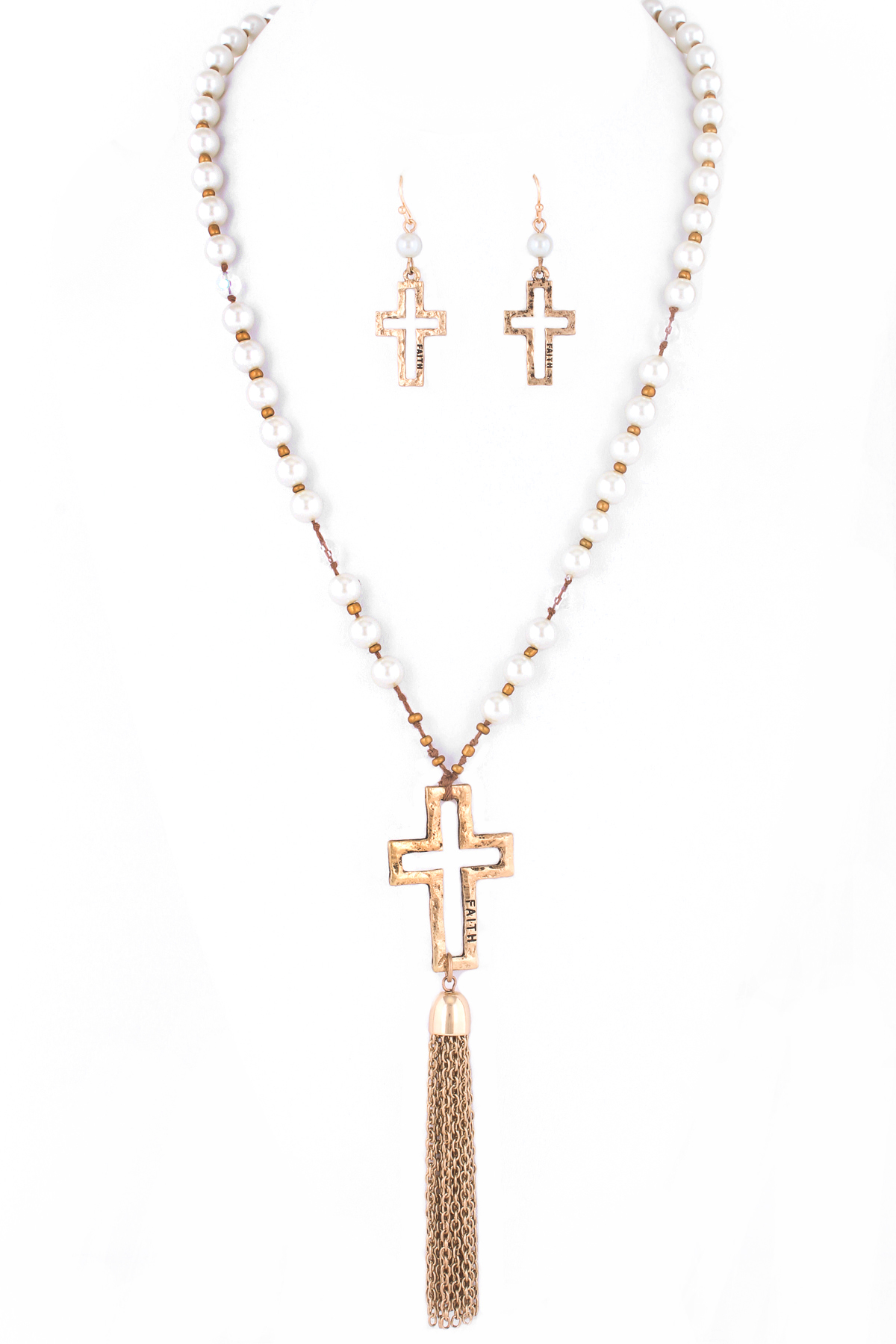 how to make beaded crosses with tassle