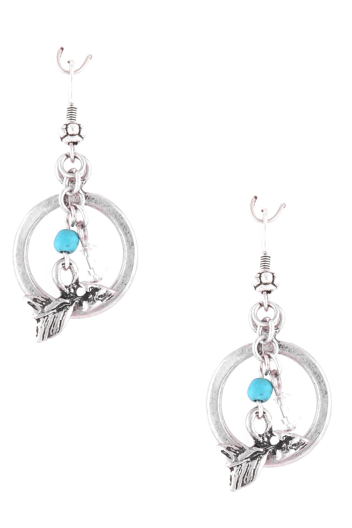 Arrow Charm Circle Dangle Earrings