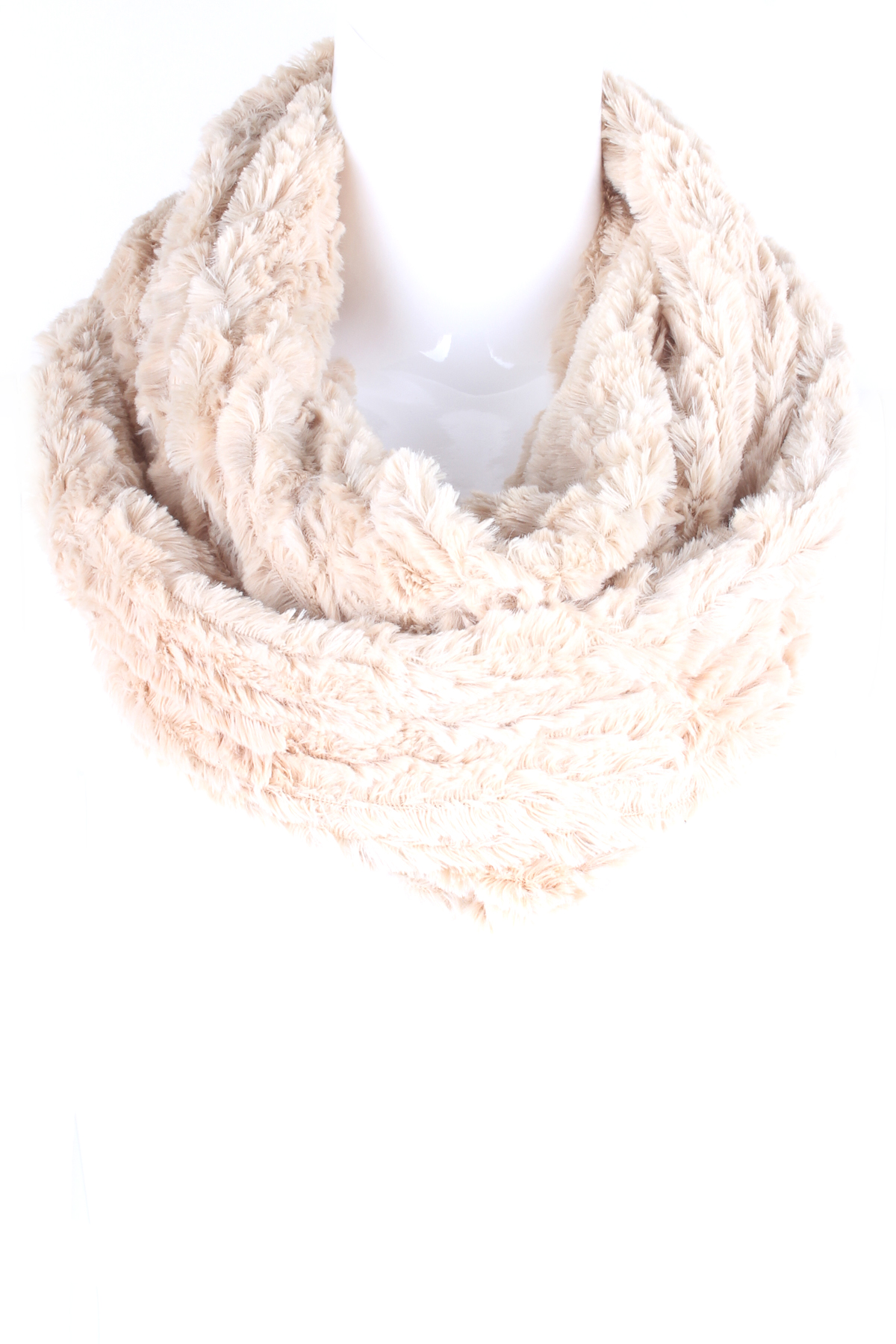 Faux Fur Infinity Scarf - Scarves