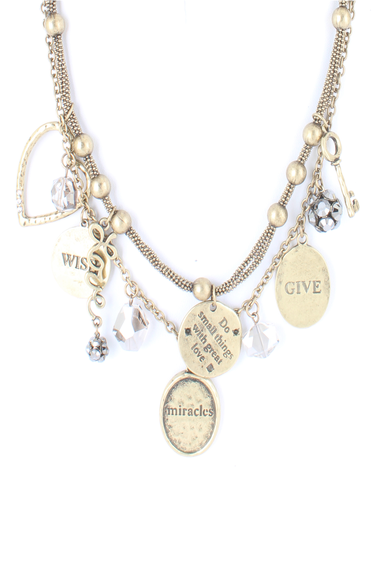 multiple charms necklace