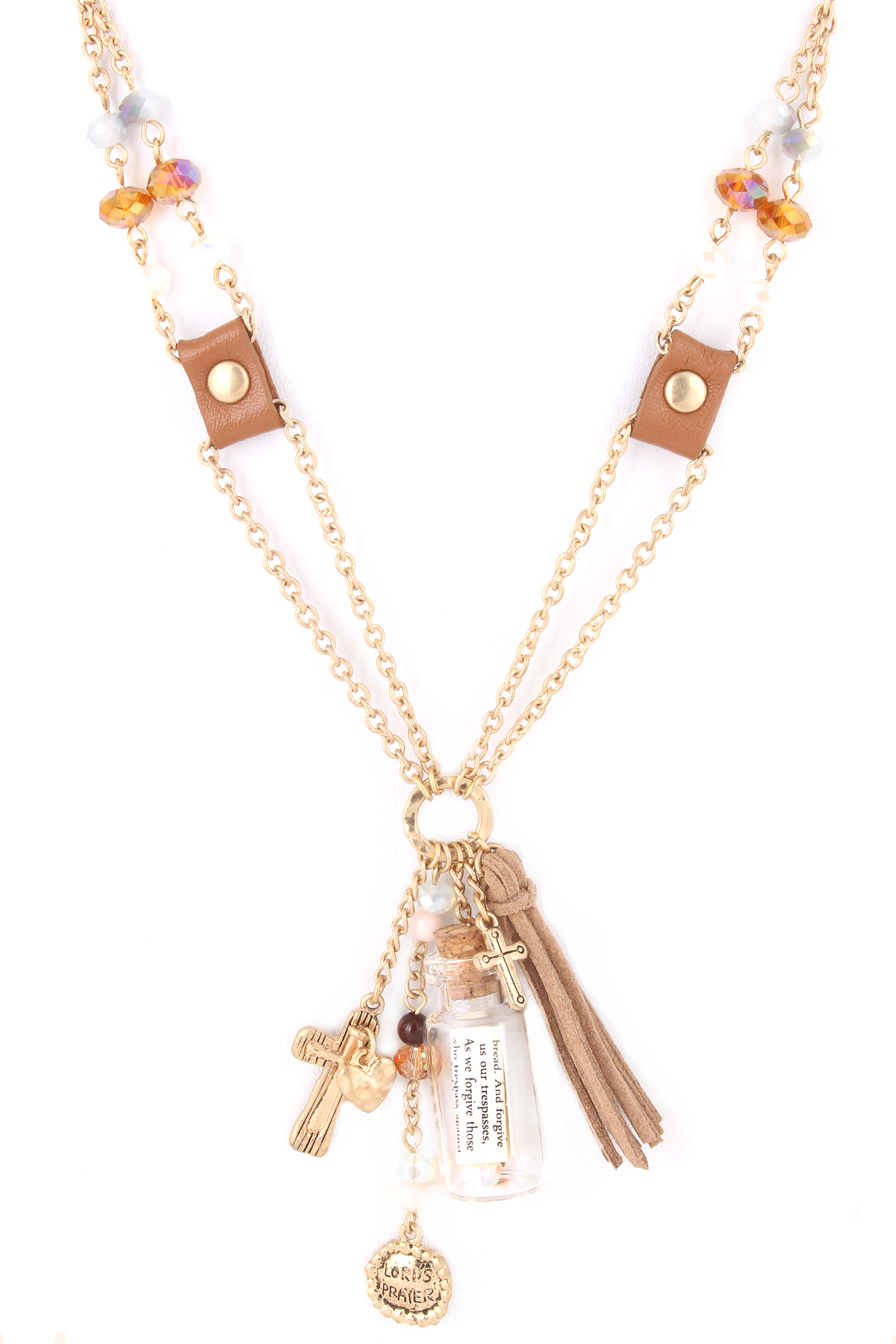 message in a bottle lord s prayer necklace necklaces