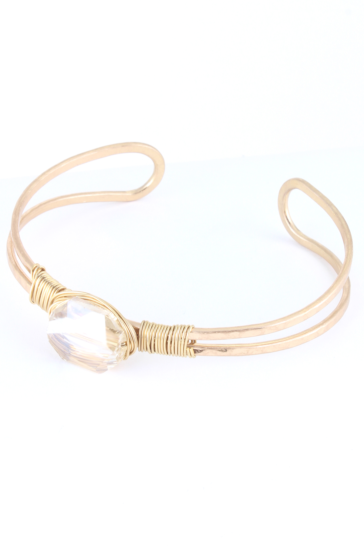 Wire Wrapped Stone Cuff Bracelet Bracelets