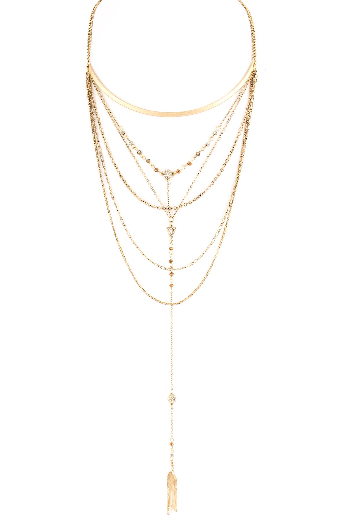 multi layer acrylic quartz necklace necklaces