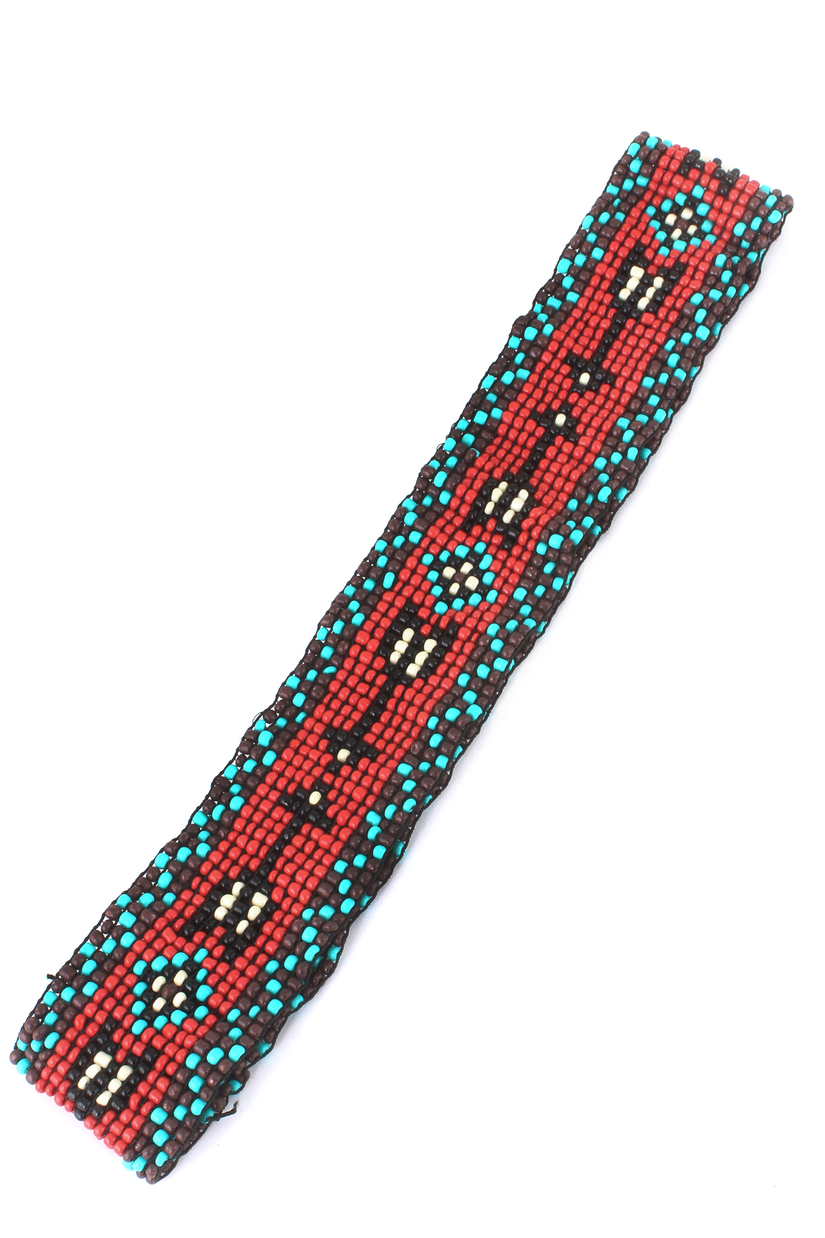 arrow pattern seed bead headband hair accessories