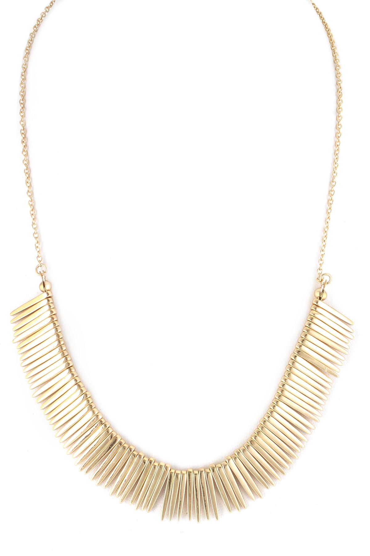 Metal Fringe Necklace - Necklaces