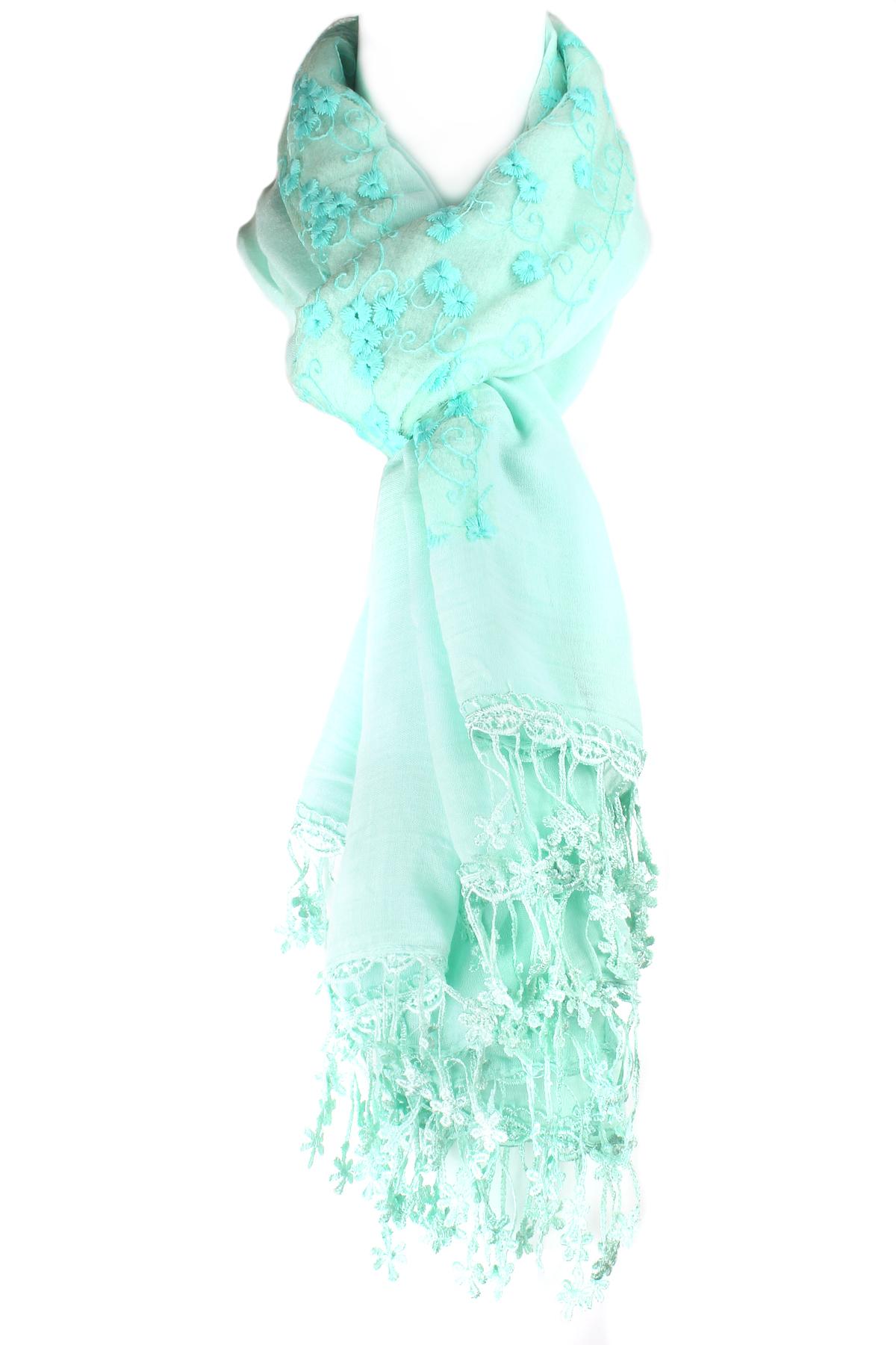 floral fringe scarf scarves
