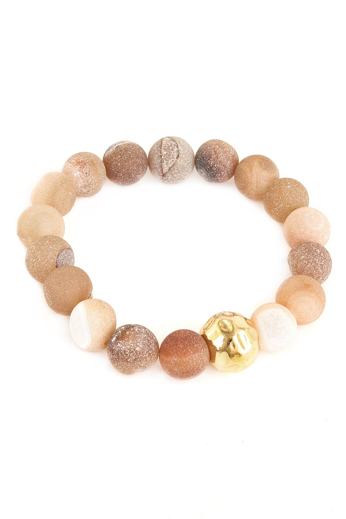 matte bead stretch bracelet bracelets