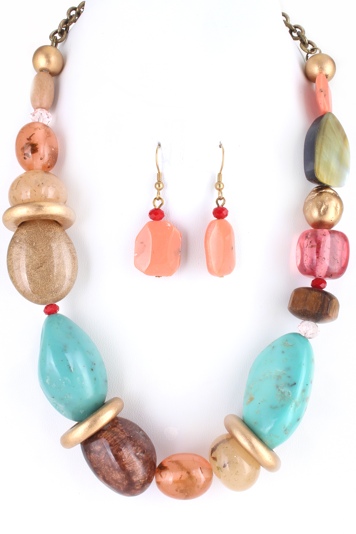 Marble Stone Jewelry : Assorted natural stone necklace necklaces