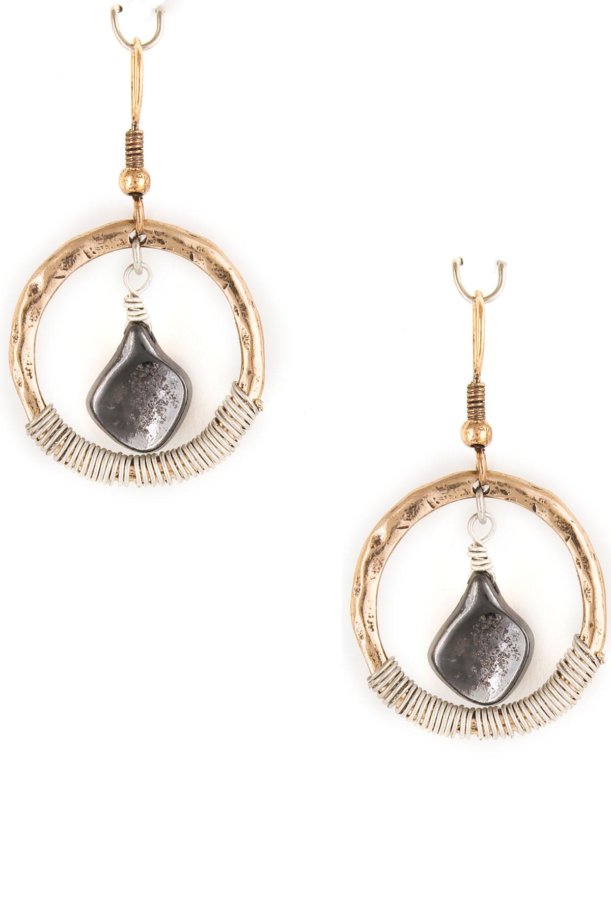 wired orbital drop earrings
