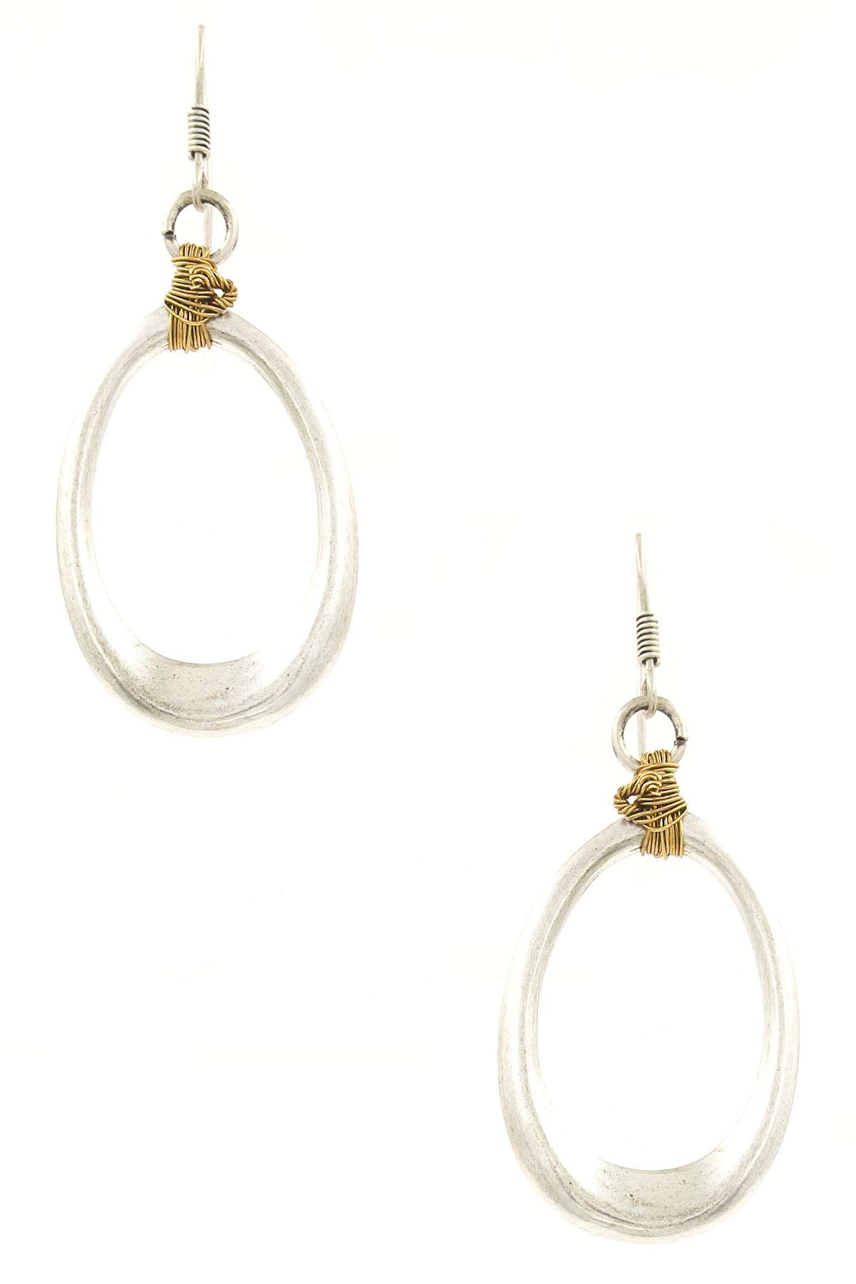 Wired metal drop earrings