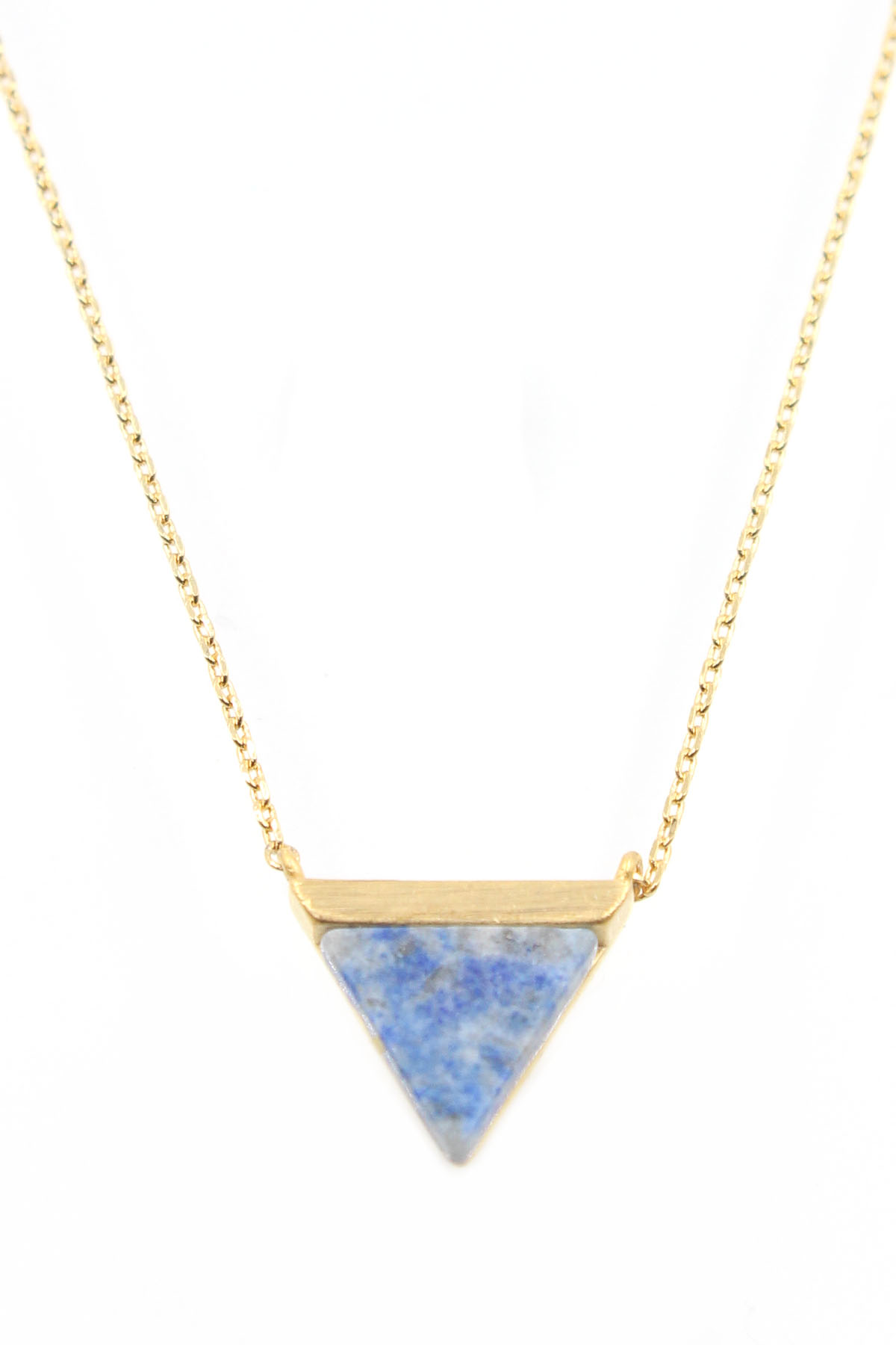 Marble Stone Jewelry : Marble stone triangle pendant necklace necklaces